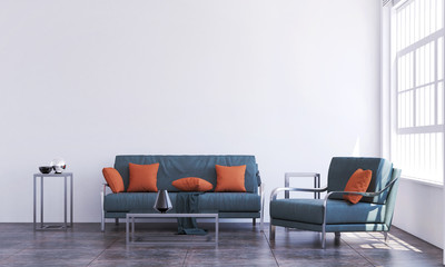 The interior design of lounge living room