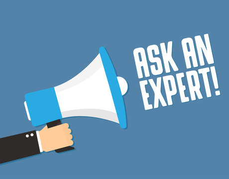 Megaphone and message Ask An Expert
