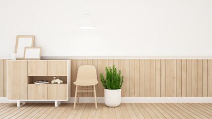 living area in kid room or coffee shop - 3D Rendering