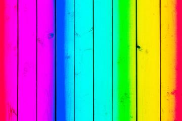 farbige Holzbretter