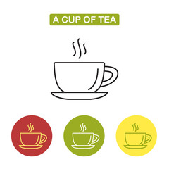 Cup icon.  Tea time image.