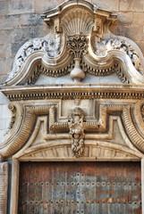 Detalle puerta edificio en cadiz