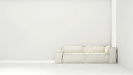 Sofa in empty living room - 3d rendering