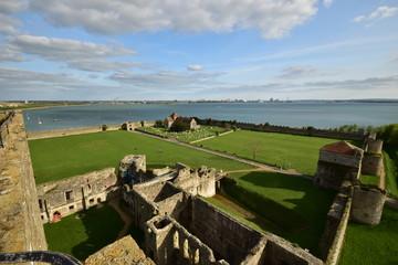 Portchester Castle Portsmouth Harbour Hampshire UK