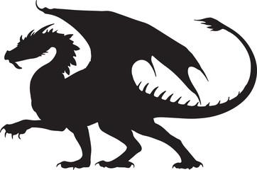 Black dragon silhouette tatoo