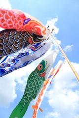 Japanese koi-nobori wind socks