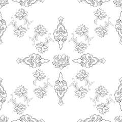Seamless beautiful pattern on a white background.
