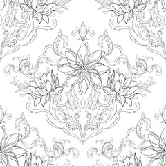 Seamless beautiful pattern on a white background.
