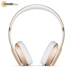 gold music headphones
