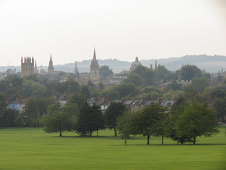 Oxford skyline from South Park