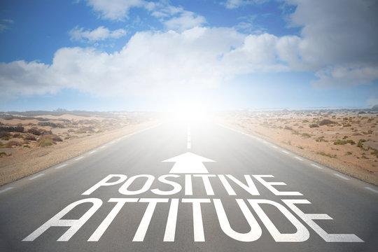 Road concept - positive attitude