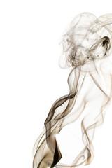 Smoke on a white background