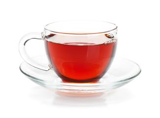 Recess Fitting Tea Black tea in glass cup