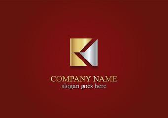 square letter k gold logo