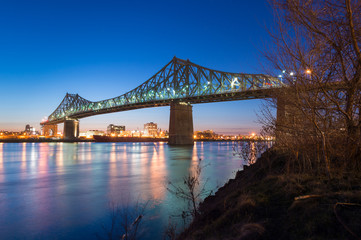 Jacques-Cartier Bridge and Saint-Lawrence River in Montreal