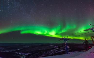 Aurora, incredible nature light in the Alaska