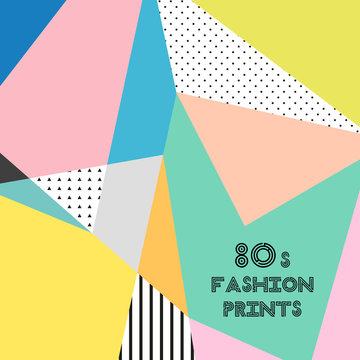 Trendy pattern in 80s style for your decoration