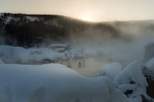 Chena Hot spring in the winter, Alaska