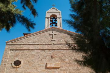 Madaba, Giordania, 05/10/2013: la Basilica di San Giorgio, la chiesa ortodossa che contiene il mosaico della Mappa di Madaba, la Mappa di Terrasanta, il celebre mosaico bizantino