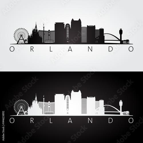 Orlando skyline silhouette alpha beta demo orlando city skyline silhouette thecheapjerseys Image collections