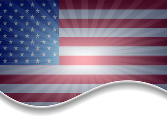 background with USA flag