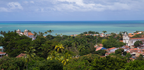 Panoramic view of Olinda, Pernambuco, Brazil