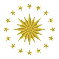 turkish presidential seal. illustration vector. logo vector.