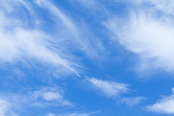 Blue Sky And Clouds. peaceful sky and cloud in good weather day
