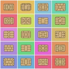 Smart Card Chip / Flat Vector Illustration