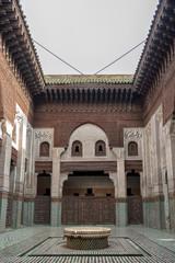 Madrasa Bou Inania interior in Meknes, Morocco