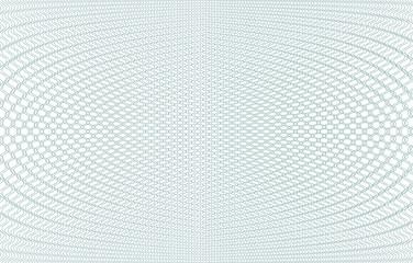Guilloche background texture - green zig zag. For certificate, voucher, banknote, voucher, money design, currency Vector illustration