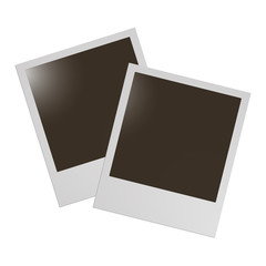 Polaroid photo vector frame blank