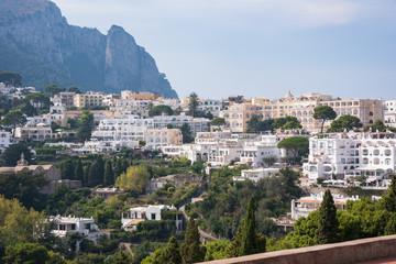 Printed kitchen splashbacks Athens View of villas Capri Island in Italy