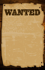 grungy old west wanted poster