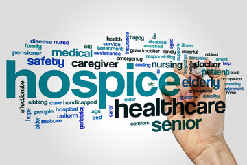 Hospice word cloud