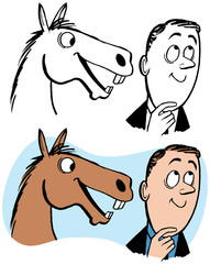 A man gets a tip straight from the horse's mouth.