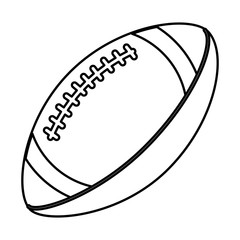 ball american football sport equipment outline vector illustration eps 10