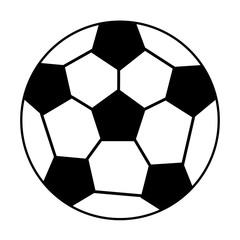 ball soccer sport equipment outline vector illustration eps 10