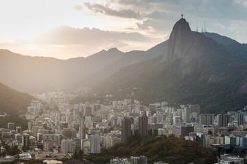Aluminium Prints Rio de Janeiro Late evening view of Rio de Janeiro, Brazil
