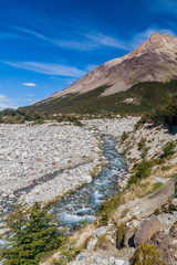 Clean creek in National Park Los Glaciares, Patagonia, Argentina