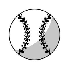baseball ball equipment - shadow vector illustration eps 10