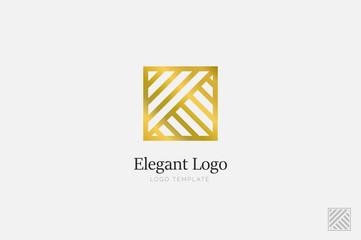 Minimalistic Elegant Logo. Luxury emblem template