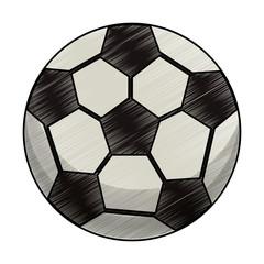 drawing soccer ball equipment vector illustration eps 10