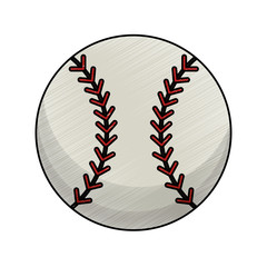 drawing baseball ball equipment vector illustration eps 10