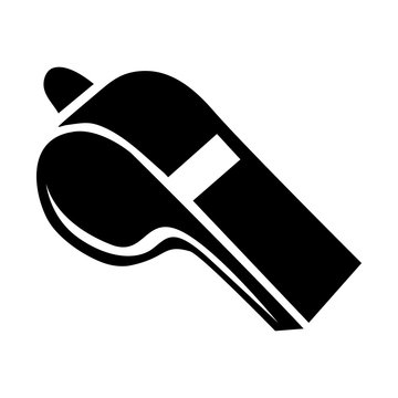 black silhouette closeup whistle element sport vector illustration