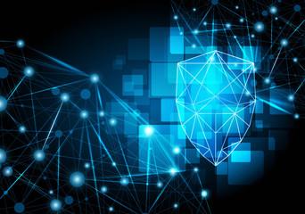 Network security shield Vector