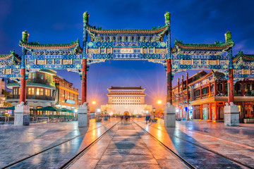 Wall Murals Asian Famous Place Jianlou seen through Zhengyang Gate, Beijing, China