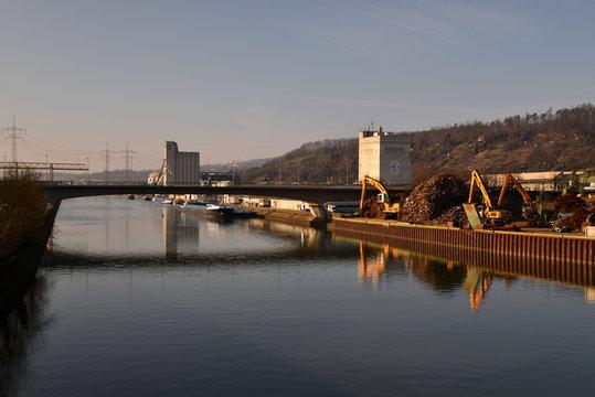 Neckarhafen Hafen Harbor of Plochingen