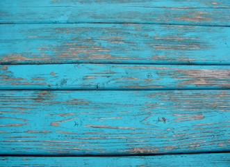 Vintage painted blue wood background