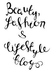 Fashion blog lettering.